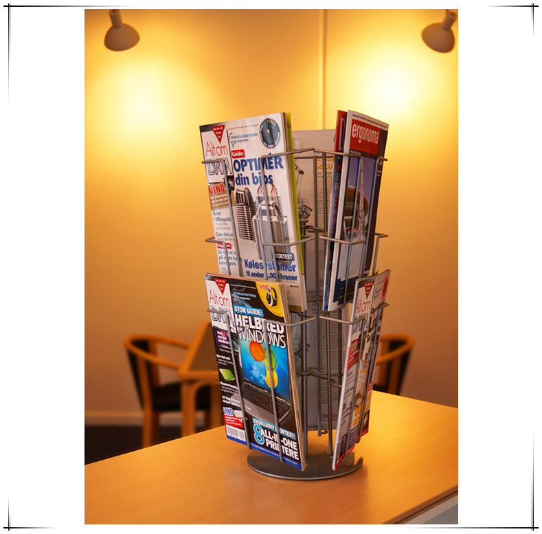 5170 Silver A4 Literature Holder Display Stand Newspaper Rack