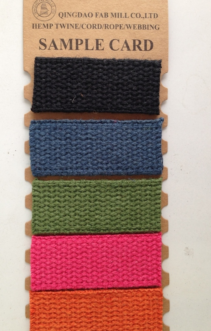 Durable and Eco-Friendly Dyed Hemp Webbing (HDW-1