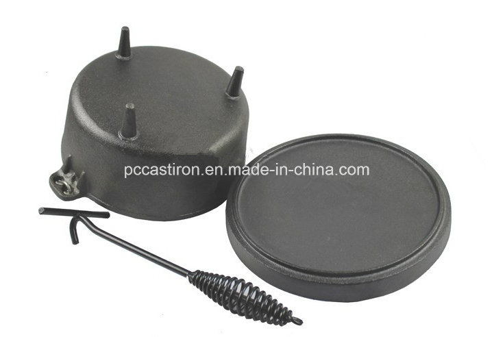 Preseasoned Cast Iron Cookware for Outdoor Camping