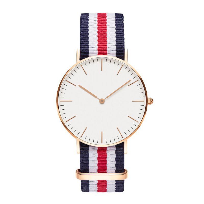 2016 Men Women Watches Authentic Brand Luxury Glatt Quartz Watch Nylon Rose Gold Silver Clock Relojes Mujer Montre Femme Horloge