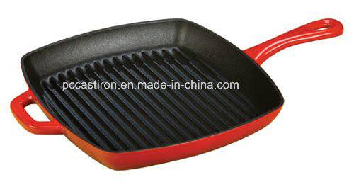 24cm Cast Iron Frying Pan with LFGB, FDA, Ce, ISO Certificate