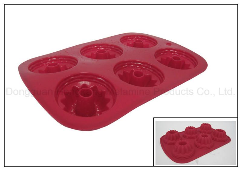 6 Cups Silicone Rubber Cake Mold (RS03)