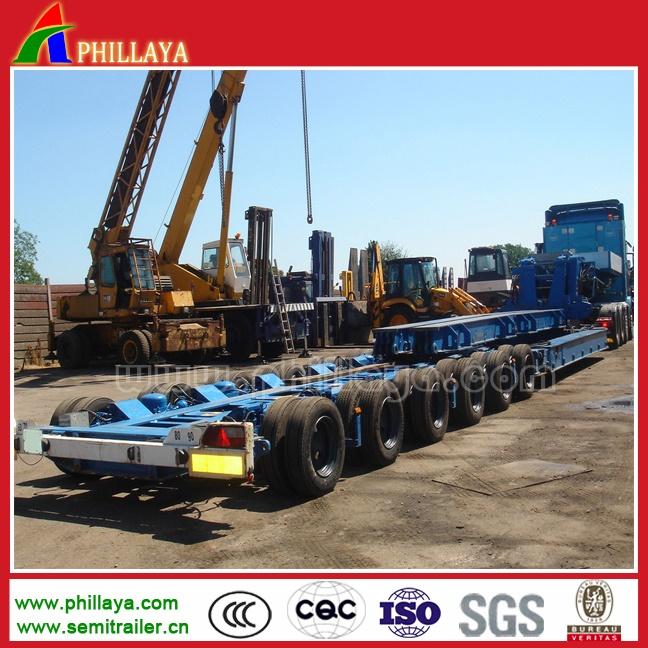 Equipment Transport Detachable Gooseneck Front Loading Lowbed Hydraulic Semi Trailers