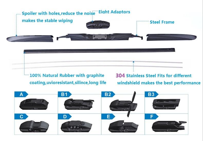 T191 Car Accessories J-Hook Arm Multifit Windshield Wiper