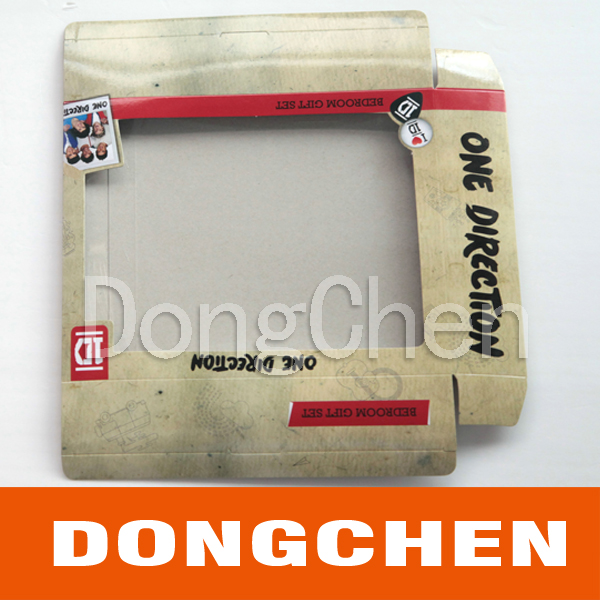 New Design Paper Cmyk Printing Display PVC Clear Window Box
