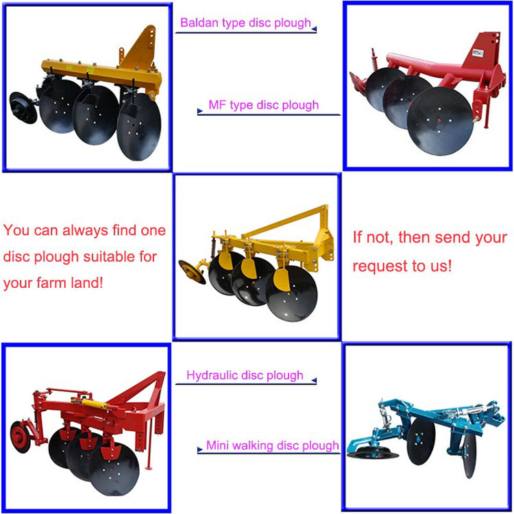 Farm Implement Heavy Duty Disc Plough for Yto Tractor