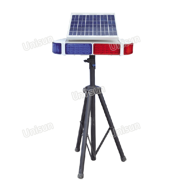 12V Solar Power LED Warning Light Flash Light