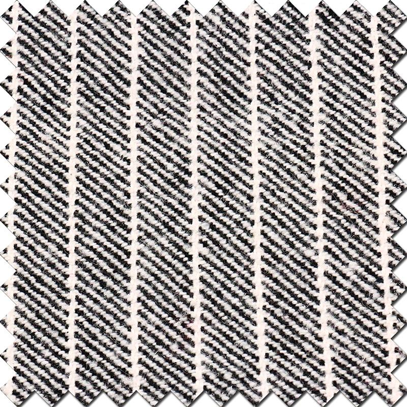 Strip Twill Version Woolen Fabric in Black and White