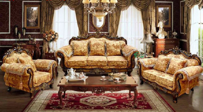 Wood Sofa for Living Room Furniture and Home Furniture (929)