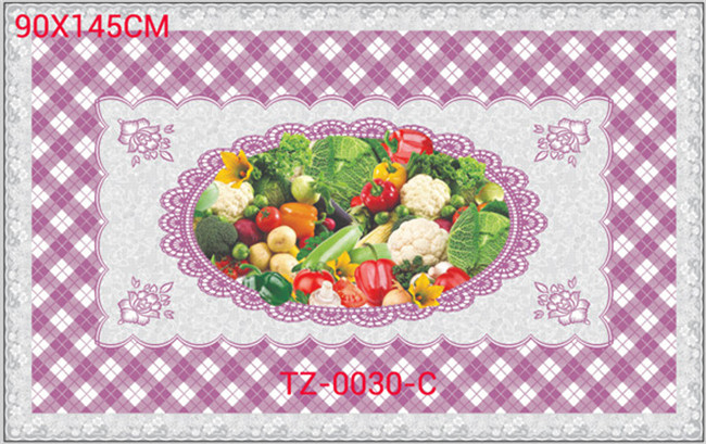 Colorfull PVC Printed Transparent Tablecloth of Independent Design 90*145cm Factory Wholesale