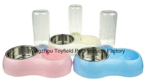 Pet Water Bottle Food Bowl Cat Dog Water Feeder