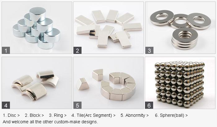 N35-N52 Rare Earth Neodymium Magnet Strong Permanent Motor Magnet