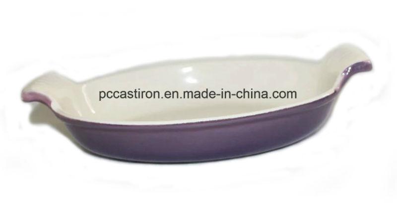 Enamel Cast Iron Roasting Fish Pan Size 34X21cm