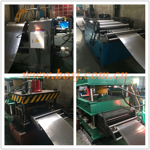 Supermarket Steel Shelf Storage Deck Panel Roll Forming Machine
