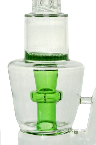 Honeycomb Glass Smoking Water Pipe with Showerhead Ice Catcher (ES-GB-424)