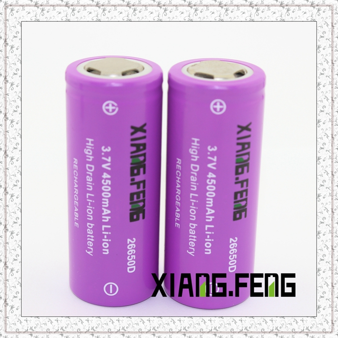 3.7V Xiangfeng 26650 4500mAh Icr Rechargeable Lithium Battery Rechargeable Lithium Battery