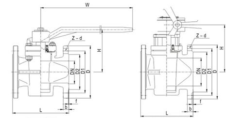 2016 China Factory API Sleeve Flange CF8 Plug Valve
