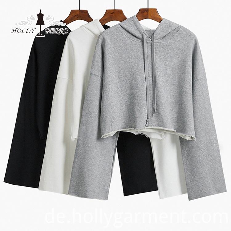 Fashion Crop Top Hoodies