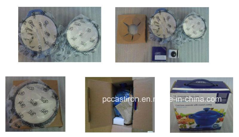 LFGB, CE, FDA, SGS Qualified Cast Iron Oval Casserole with Enamel Coating