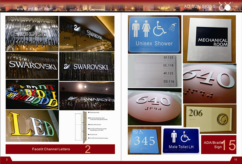 High-Quality 3D Mirror Stainless Steel Number or Letters Sign