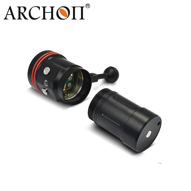 Rechargeable LED Diving Light Waterproof 100meters 5200lumens