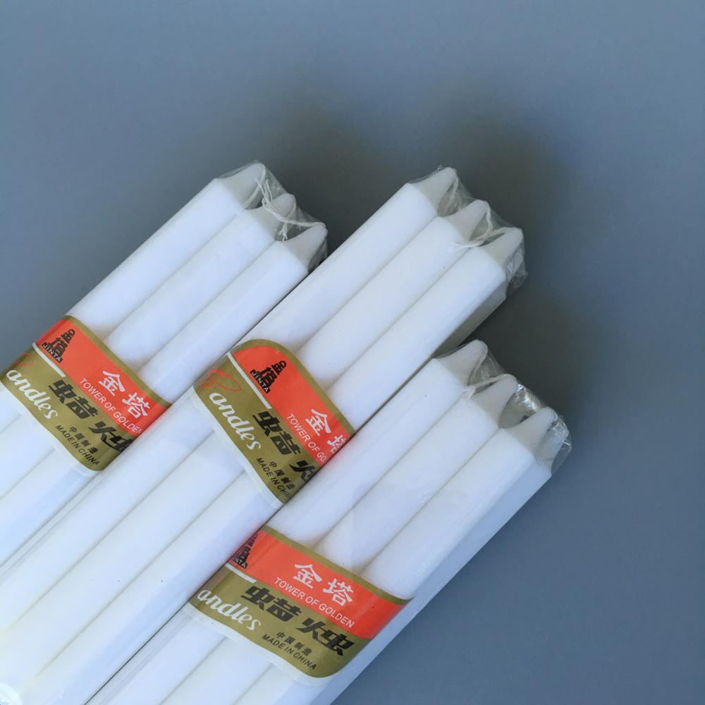 Stick White Candles