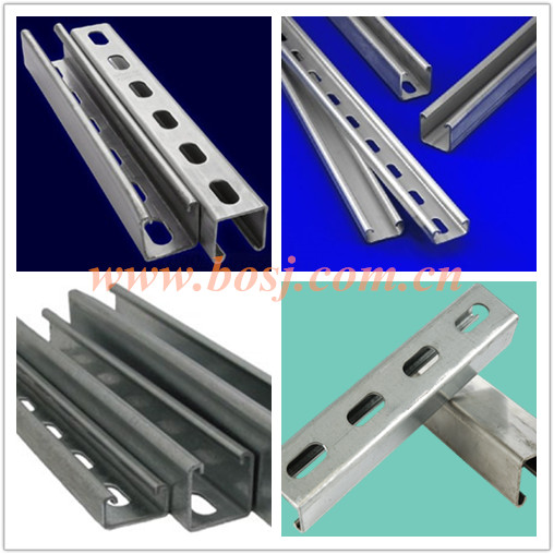 Heavy Duty Construction Strut Steel Channel Roll Forming Production Machine Thailand