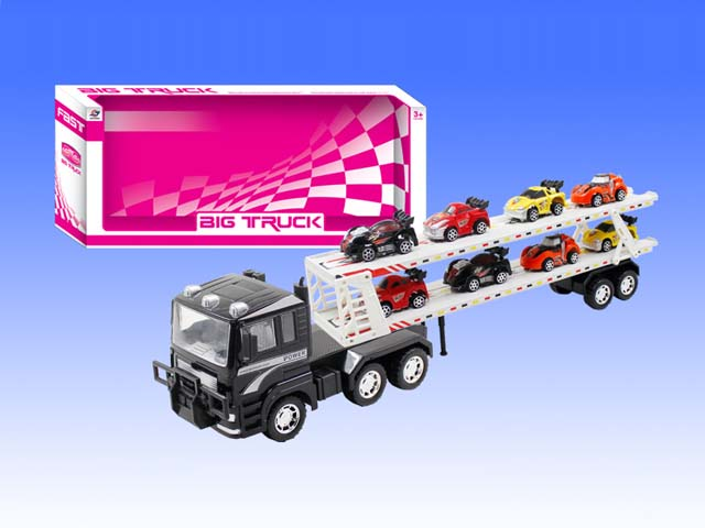 Christmas Big Friction Children Vehicle Toy Truck with 8 Small Cars for Boys (10206796)