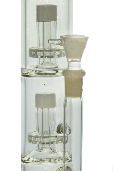 2 Showerhead Ice Catcher Glass Water Pipe for Smoking (ES-GB-438)