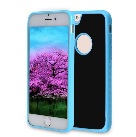 Anti-Gravity Selfie Case for iPhone7 / 6 Plus/6s Plus, Hands Free Nano Suction Stick to Glass, Tile, Car GPS, Most Smooth Surface