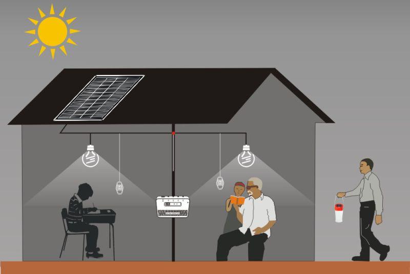 Power-Solution 5200mAh/7.4V Mini Home Solar System for Charging Mobile Phone and Lighting for Family