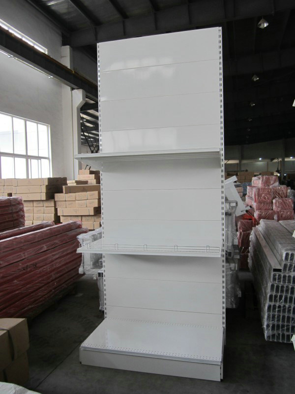 Supermarket&Store Display Equipment/Metal LED Gondola Storage Shelf&Rack System