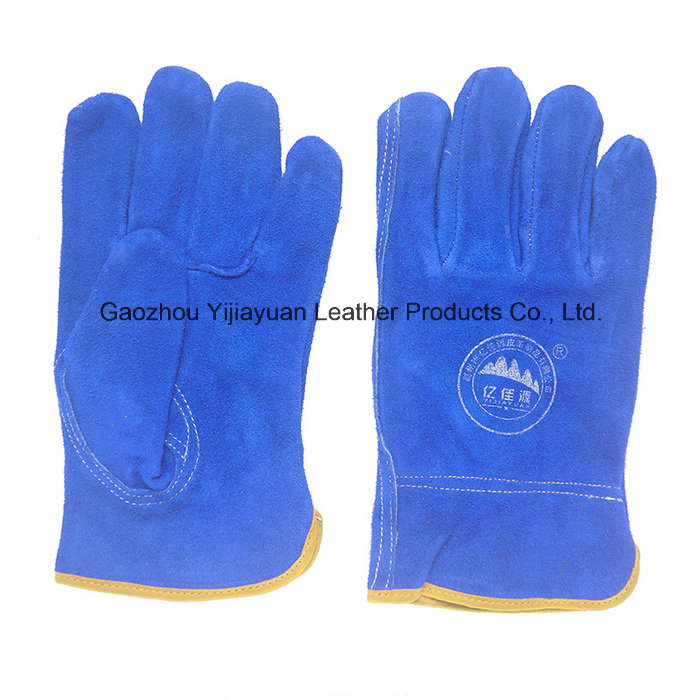 Ab Grade Cow Split Leather Safety Working Drivers Gloves for Driving