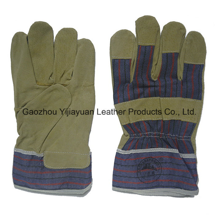Pig Skin Palm Mechanic Work Glove