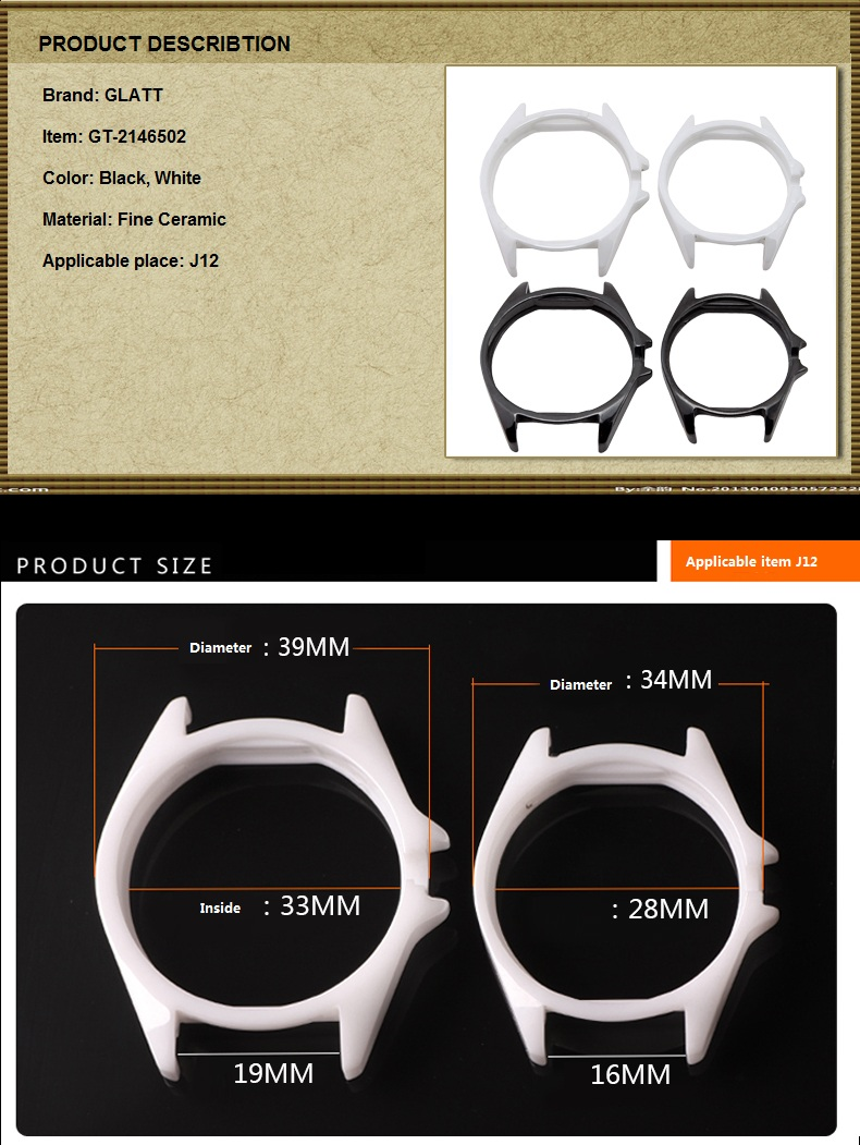 Quality Ceramic Watchcase for Wristwatch for Handwatch for Timepiece