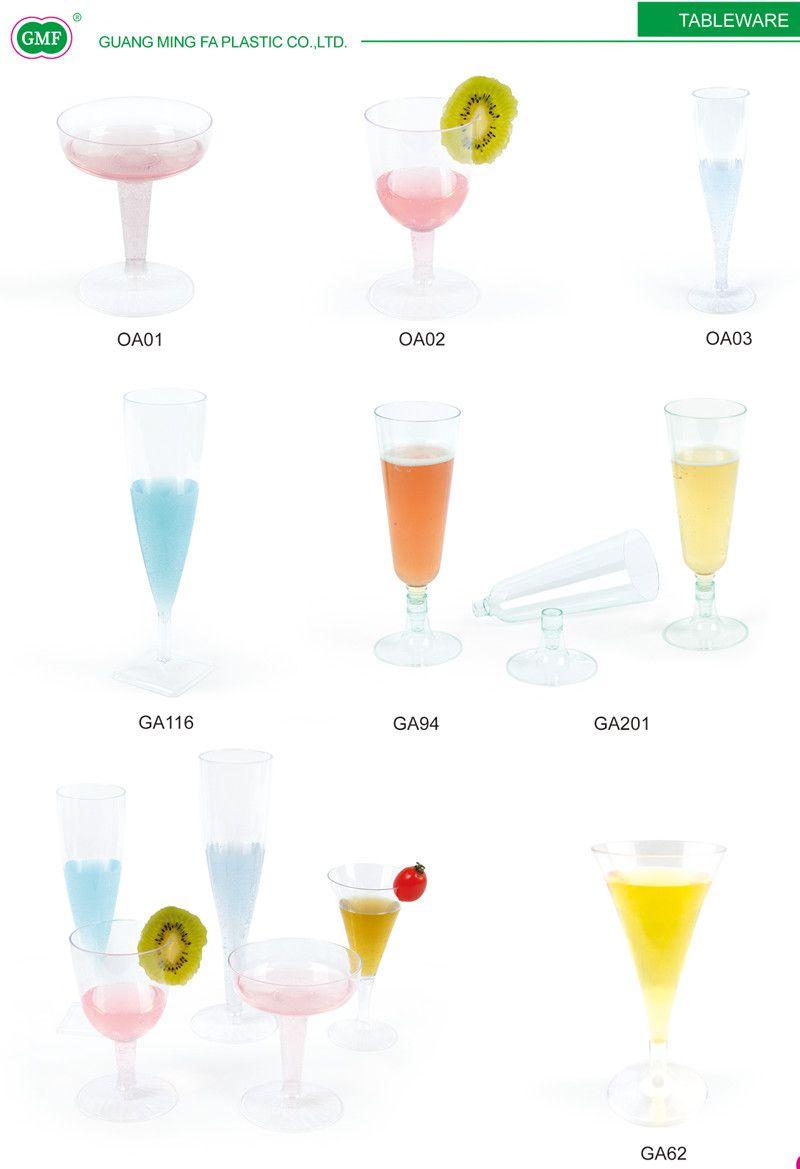 2 Oz Champagne Glasses Plastic Cup Bubbly Champagne Flutes