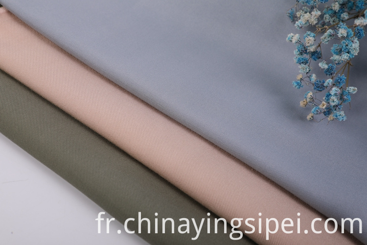 High quality woven twill polyester rayon fabric