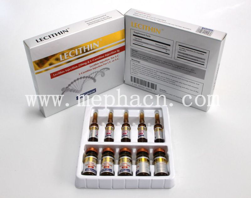 Lecithin Injection 250mg, Lipolysis for S. C., Ppc Phosphatidylcholine Injection for Weight Lose, L-Carnitine Injection for Body Slimming