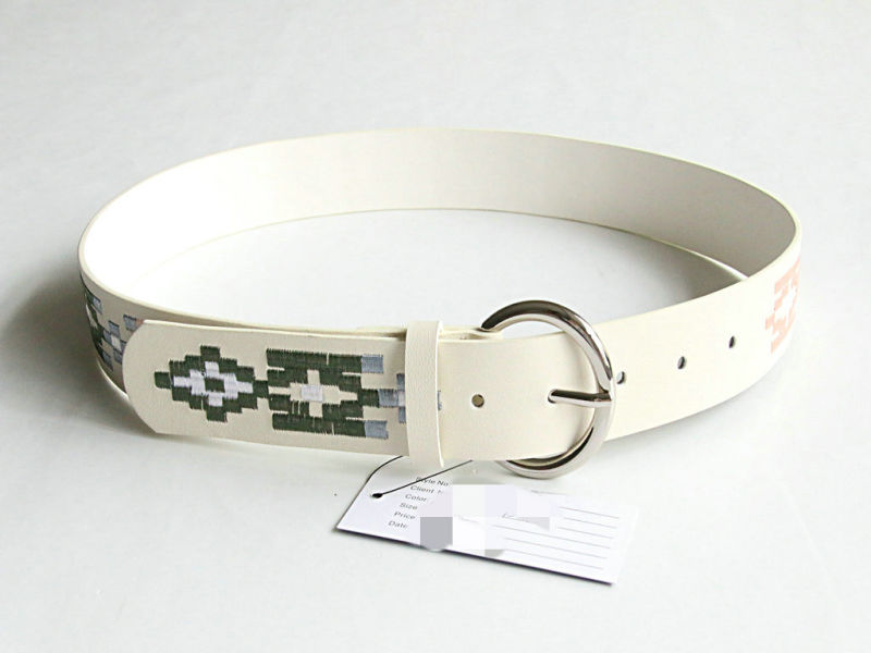 Women Fashion Embroidered Leather Belt