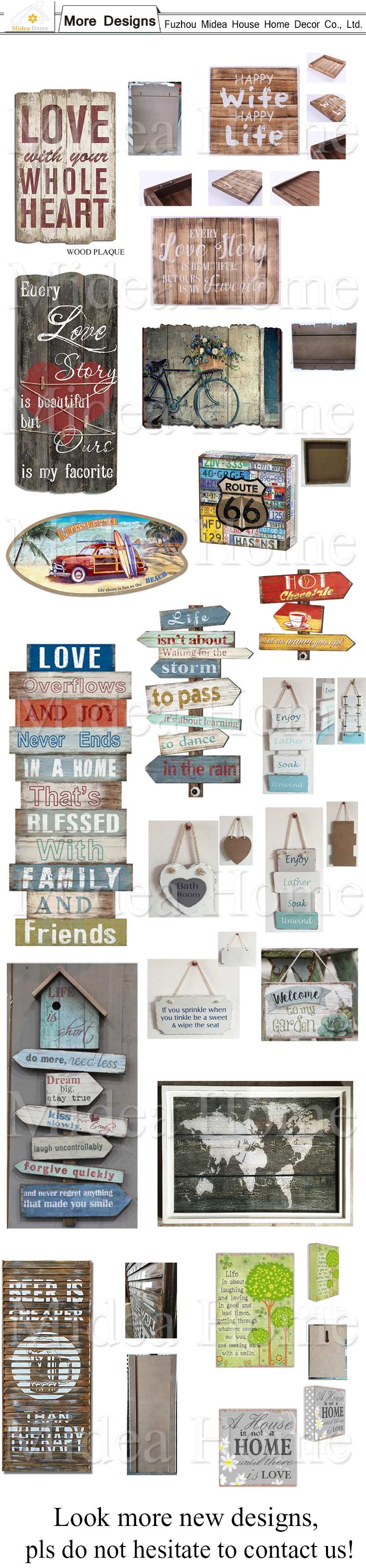 USA Style 66 Wood Craft Signs