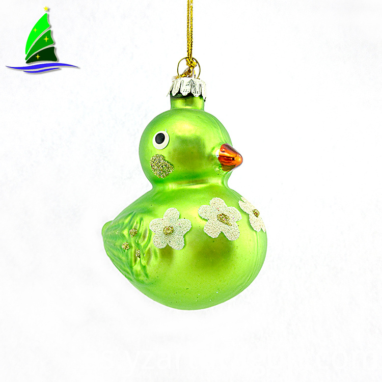 A Lovely Glass Green Duck