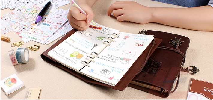 Delicate Top Quality Imitation Leather Handicraft Perfect Gift Journal, Diary, Notebook, Guestbook, Planer, Agenda with Strap