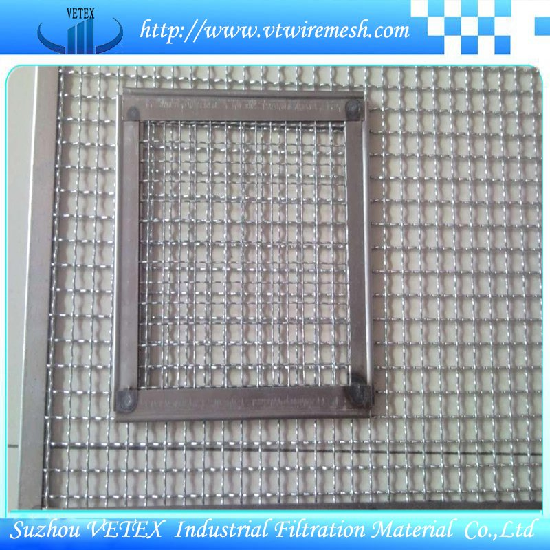 Crimped Square Mesh with Edge