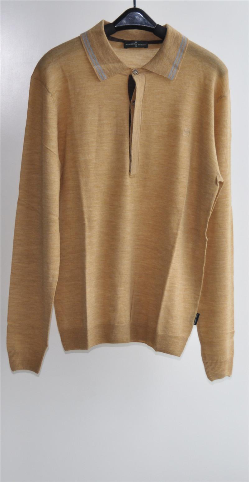 100%Wool Men Long Sleeve Knit Pullover Sweater