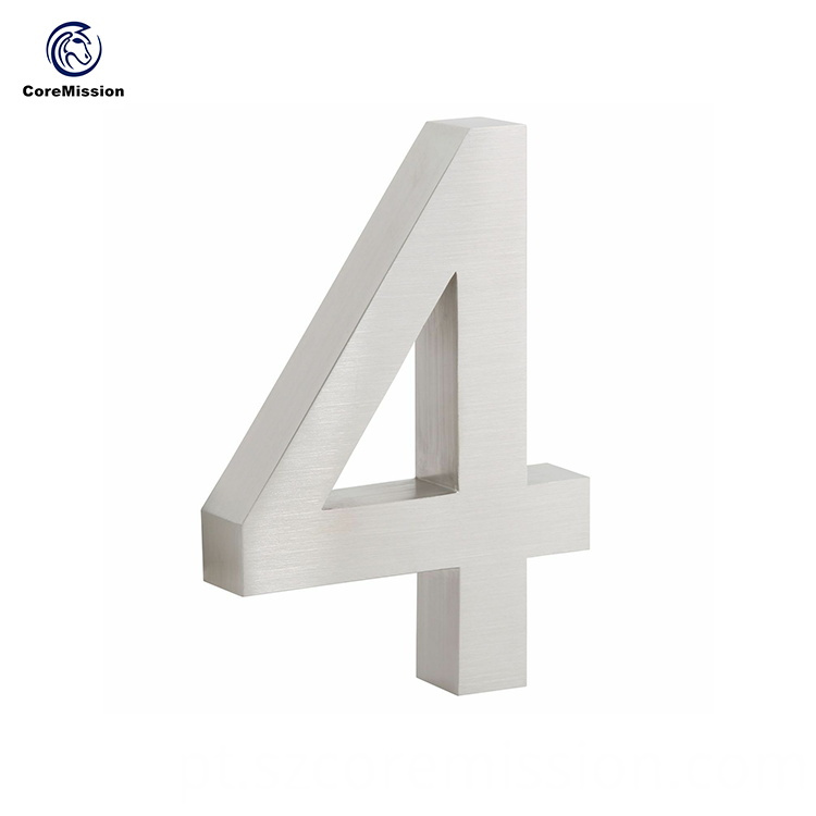 15cm Customized Stainless Steel Brushed House Number