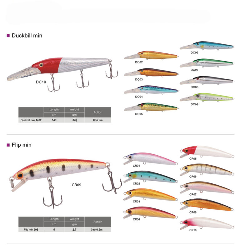 Free Shipping Deep Diving Fishing Lures Minnow Lure