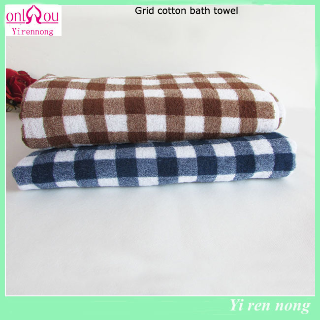 Plaid Bath Towel Ab Yarns Cotton Towel for Bathroom