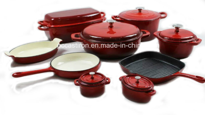 7PCS Enamel Cast Iron Cookware Set Supplier From China