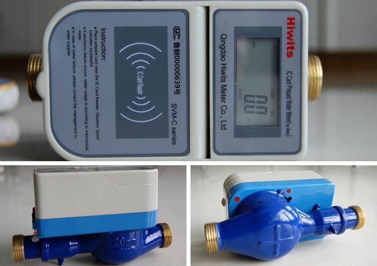 Hot Electronic Brass Wireless Smart IC Card Prepaid Water Meter