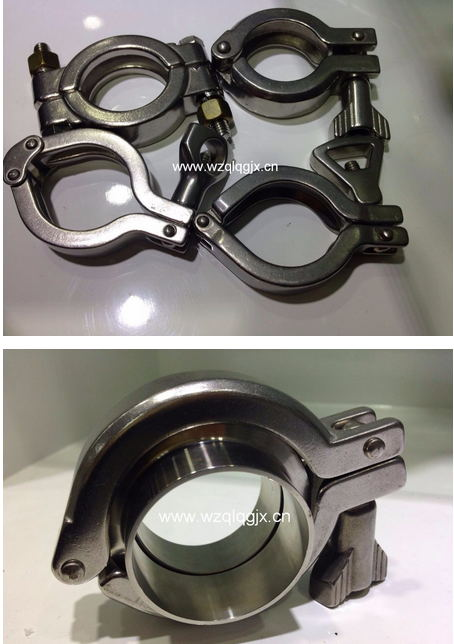 Sanitary Stainless Steel Pipe Fitting 304 316L Hose Tube Tri Clamp